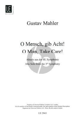 Mahler O Mensch gib acht (Altsolo aus Symphonie 3) (German)