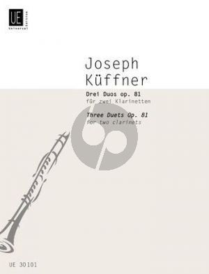 Kuffner 3 Duos Opus 81 2 Klarinetten (F.G. Holy)