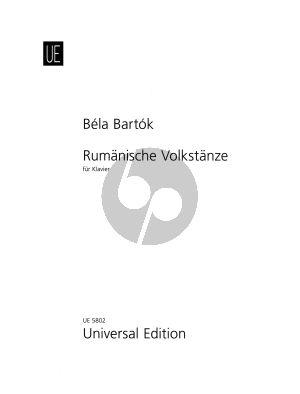 Bartok Rumanische Volkstanze Klavier (Neuausgabe 1993 P. Bartok)