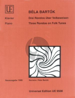 Bartok 3 Rondos über Volksweisen Klavier (Neuausgabe)