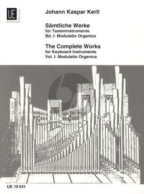 Kerll Samtliche Werke für Tasteninstrumente Vol. 1 Modulatio Organica