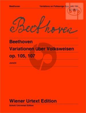 Variationen uber Volksweisen Op.105 - 107 (mit Flote ad lib.)