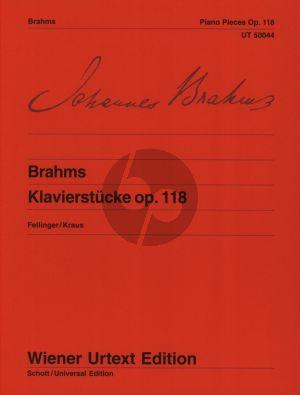 Brahms Klavierstucke Op.118 (Herausgegeben von Fellinger-Kraus) (Wiener-Urtext)