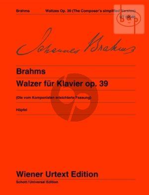 Walzer Op.39 (erleichtert vom Komponisten)