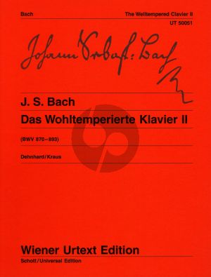 Bach Wohltemperierte Klavier Vol.2 BWV 870 - 893