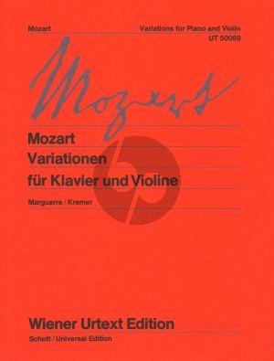 Mozart Variationen Violine und Klavier (Karl Maguerre and Gidon Kremer) (Wiener-Urtext)