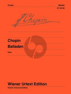 Chopin Ballades Piano (edited by Jan Ekier) (Wiener-Urtext)
