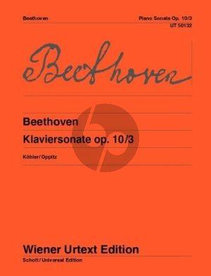 Beethoven Sonate Op.10 No.3 (D-dur) Klavier (Kohler-Oppitz) (Wiener-Urtext)