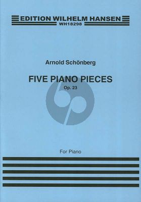 Schoenberg 5 Pieces Op.23 for Piano