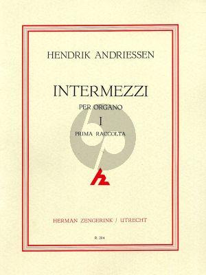 Andriessen Intermezzi Vol.1 Orgel