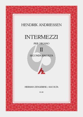 Andriessen Intermezzi Vol.2 Orgel