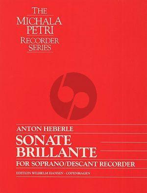 Heberle Sonata Brilliante Descant Recorder solo
