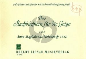 Das Bach Buchlein fur die Geige