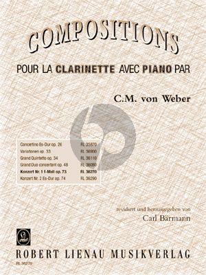 Weber Konzert No.1 f-moll Op.73 (J114) Klarinette-Klavier (Baermann)
