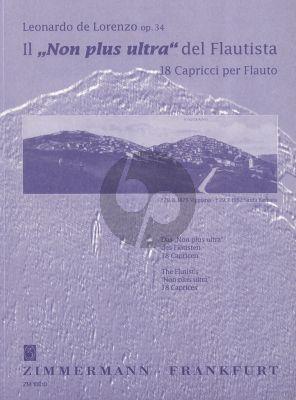 Lorenzo Il Non Plus Ultra des Flautista Op.34 (18 Capricci)