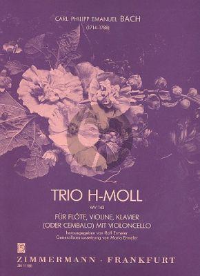 Bach C.Ph.E. Trio h moll Flote-Violin-Klavier