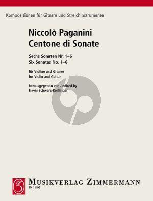 Paganini Centone di Sonate (Sonaten 1-6) fur Violine und Gitarre (Herausgegeben von Erwin Schwarz-Reiflingen)