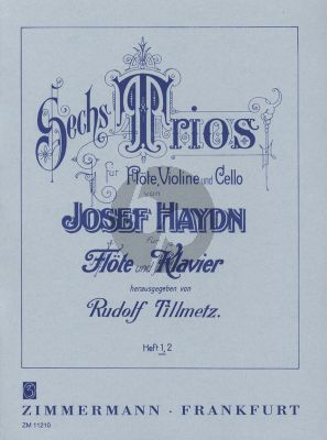Haydn 6 Trios Vol.1 Ausgabe Flote-Klavier (Tillmetz)