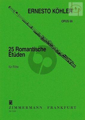 25 Romantische Etuden Op. 66 Flöte