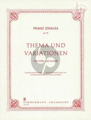 Thema und Variationen Op.13
