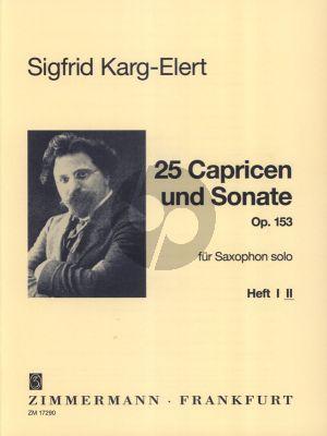 Karg-Elert 25 Capricen & Sonate Op. 153 Vol. 2 Saxophon
