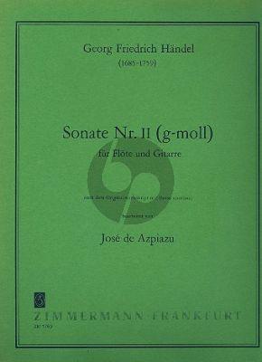 Handel Sonate No. 2 g-moll Flote und Gitarre (Don Azpiazu)