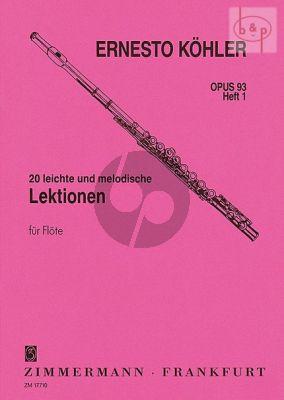 20 leichte und Melodische Lektionen Op.93 Vol.1 Flöte