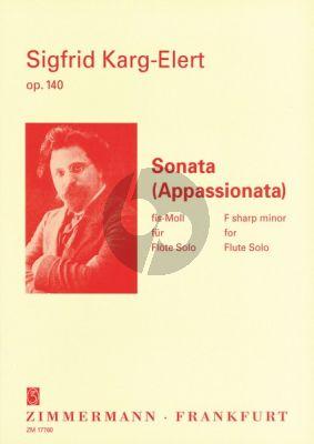 Karg-Elert Sonate Appassionata fis-moll Op.140 Flöte allein (Eppel)