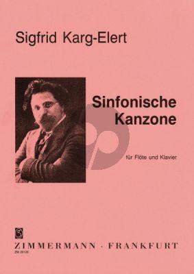 Karg-Elert Sinfonische Kanzone Op.114 Flöte-Klavier (Alwin Wollinger)