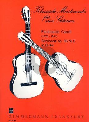 Carulli Serenade Op.96 No.2 D-dur 2 Gitarren (Siegfried Behrend)