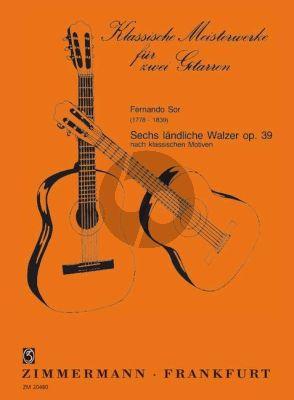 Sor 6 Landliche Walzer Op. 39 2 Gitarren (Siegfried Behrend)