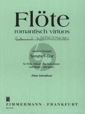 Donizetti Sonate F-dur Flote[Oboe] und Klavier (Herausgegeben von Peter Schmalfuss)