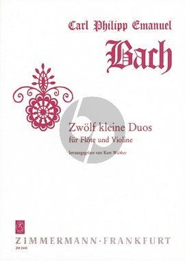 Bach 12 Kleine Duette Flöte-Violine (Kurt Walther)