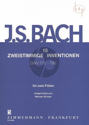 15 2 part Inventions BWV 772 - 786 2 Flutes