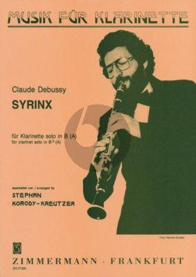 Debussy Syrinx Clarinet[A/Bb]) solo