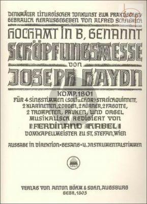 Schopfungsmesse (Messe B-dur) (Hob.XXII:13) (Soli-Choir-Orch) (Vocal Score)
