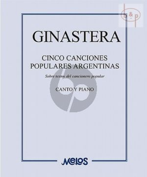 5 Canciones Populares Argentinas Voice-Piano