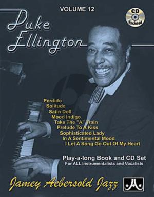 Ellington Jazz Improvisation Vol.12 Duke Ellington for Any C, Eb, Bb, Bass Instrument or Voice - Intermediate/Advanced (Bk-Cd)