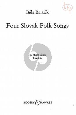 4 Slovak Folksongs SATB-Piano