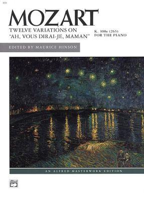 Mozart Variations Ah! vous-dirai-je Maman KV 265 Piano