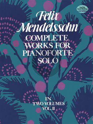 Mendelssohn Complete Works Vol.2 Piano