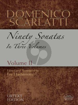 Scarlatti 90 Sonatas Vol. 2 NO. 31 - 60 Harpsichord (edited by Dr. Eiji Hashimoto) (Dover)