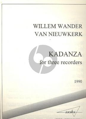 Kadanza (1990) 3 Renaissance Recorders STB