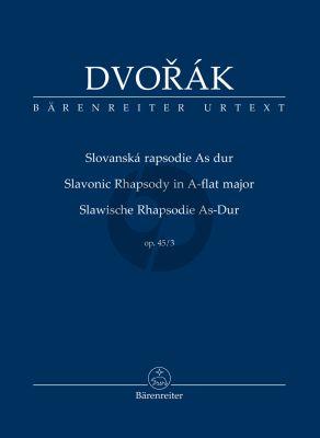 Dvorak Slavonic Rhapsody in A flat major Opus 45 No. 3 Study Score (Robert Simon)