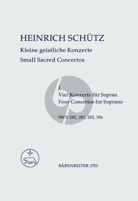 Schutz Kleine Geistliche Konzerte vol.1 (4 Konzerte fur Sopran)