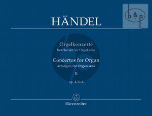 Orgelkonzerte Op.4 No.4 - 6
