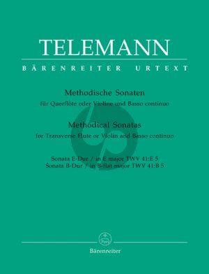 Telemann Methodische Sonaten Vol.5 Violine(Flöte)-Bc (Max Seiffert) (Barenreiter-Urtext)