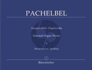 Pachelbel Hexachordum Apollinis 1699 Orgel (Moser-Fedtke)