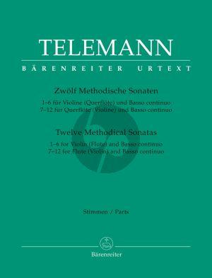 Telemann 12 Methodische Sonaten Hamburg 1728 und 1732 Flute[Violine] un Bc (Stimmenband) (edited by Max Seiffert)