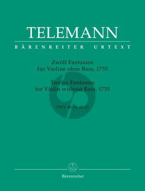 Telemann 12 Fantasien TWV 4:14-40:25 Violine solo (Hausswald) (Barenreiter-Urtext)